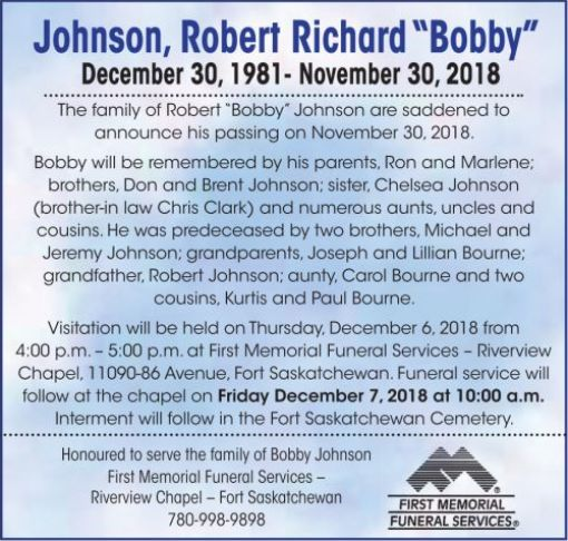"Robert Richard ""Bobby""  JOHNSON"