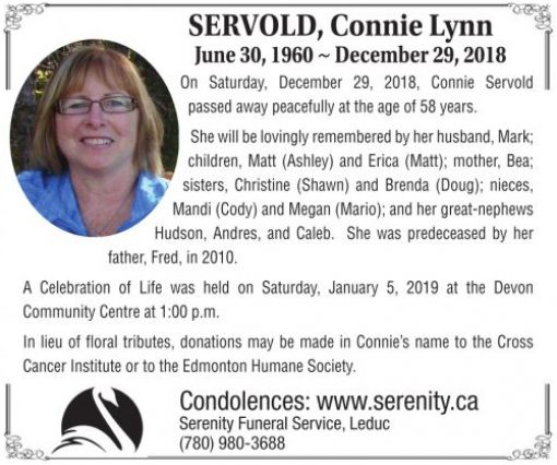 Connie Lynn  SERVOLD