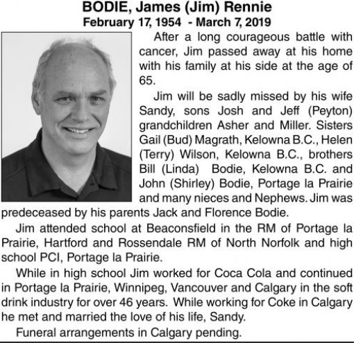James (Jim) Rennie  BODIE